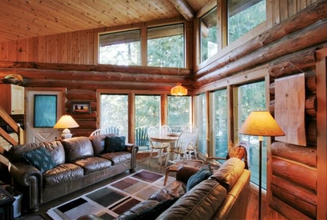 Mt. Baker Lodging Cabin #97 – REAL LOG CABIN, LAKESIDE, DOCK, PETS OK, SLEEPS-6! photo 60984